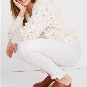 Madewell High Waist White Jeans